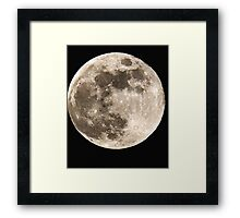 Super Moon T-shirt Framed Print