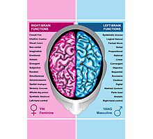 Human brain left and right functions vector Photographic Print