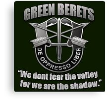 Logo - The Green Berets Canvas Print