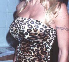 cheetah babe Sticker