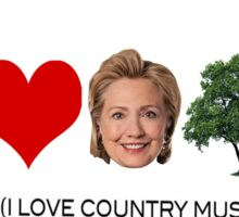 I love country music. Sticker