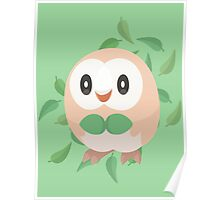 Pokemon Minimalist Rowlet Vector Poster