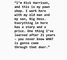 Rick Harrison Script Unisex T-Shirt