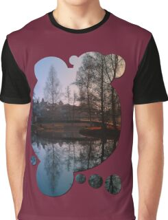 A bridge, the river and reflections III | waterscape photography Graphic T-Shirt