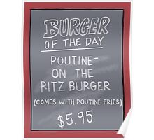 Specials Boards - Poutine on the Ritz Poster