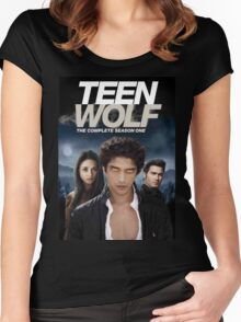 TEEN WOLF SEASON ONE COVER Women's Fitted Scoop T-Shirt