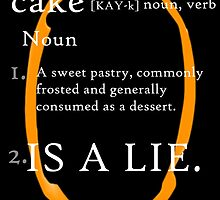 Cake Is a Lie (Orange Portal) by Aj Concord