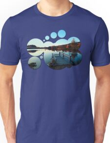 Indian summer sunset at the fishing lake II | waterscape photography Unisex T-Shirt