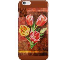 Decorative Tulip Bouquet iPhone Case/Skin