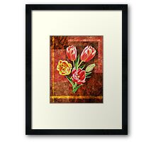 Decorative Tulip Bouquet Framed Print