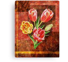 Decorative Tulip Bouquet Canvas Print