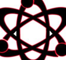Technomage Industries Steampunk Cog - neon red outline Sticker