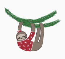 Holiday Ugly Sweater Sloth Kids Tee