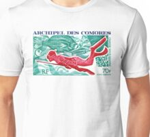 1972 Comoro Islands Spearfishing Postage Stamp Unisex T-Shirt