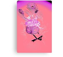 Feather Mask Canvas Print