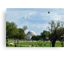 "Air Force One ""Approach"" Canvas Print"