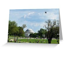 """Air Force One """"Approach"""" Greeting Card"""