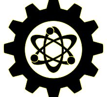 Technomage Industries Steampunk Cog - neon yellow outline by aromis