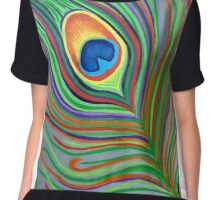 Spectrum Peacock Chiffon Top