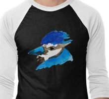 Blue Jay Watercolor Men's Baseball ¾ T-Shirt