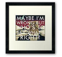 world turning (magritte) Framed Print