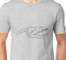 Moray Eel Skull - Pen Drawing Unisex T-Shirt