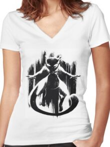 ~ Epic Mewtwo ~ Women's Fitted V-Neck T-Shirt