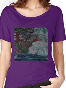 wolf by the falls Women's Relaxed Fit T-Shirt