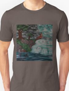 wolf by the falls Unisex T-Shirt