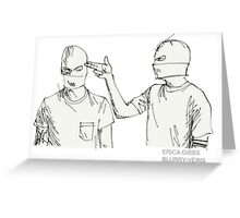 Guns For Hands Sketch Greeting Card