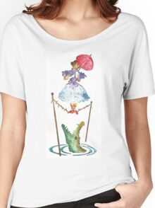 Perilous Pink Parasol - Stretching Portrait Women's Relaxed Fit T-Shirt