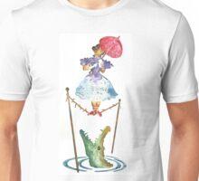 Perilous Pink Parasol - Stretching Portrait Unisex T-Shirt