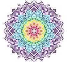Rainbow Mandala Photographic Print