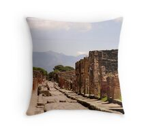 The Streets in Ruins Throw Pillow