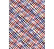 Red Green Blue and White Plaid Fabric Background Photographic Print