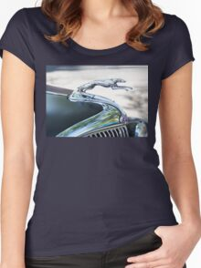 HOOD ORNAMENT FORD Women's Fitted Scoop T-Shirt