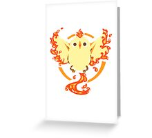 Fire Chicken Moltres Greeting Card