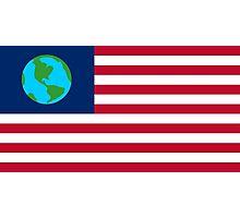 FUTURAMA | EARTH FLAG | CHEST LOGO Photographic Print