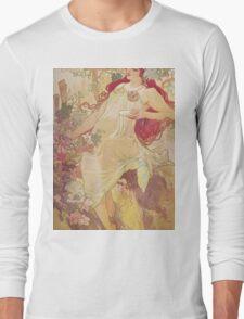 Alphonse Mucha - Automneautumn Long Sleeve T-Shirt