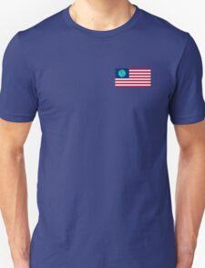 FUTURAMA | EARTH FLAG | CHEST LOGO Unisex T-Shirt