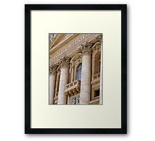 The Balcony Framed Print