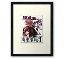T G reflections monochrome text Framed Print