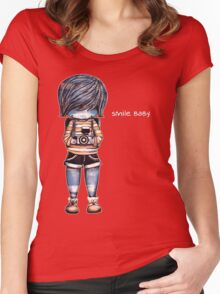 Smile Baby - Retro Tee Women's Fitted Scoop T-Shirt