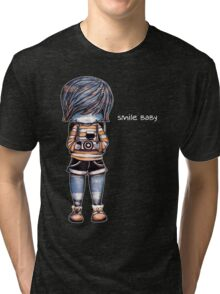 Smile Baby - Retro Tee Tri-blend T-Shirt