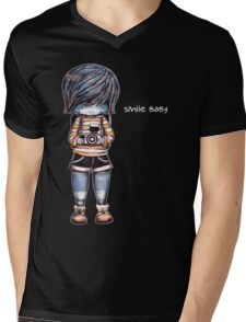 Smile Baby - Retro Tee Mens V-Neck T-Shirt