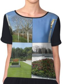 The Preston Temple Grounds in Spring and Summer Chiffon Top