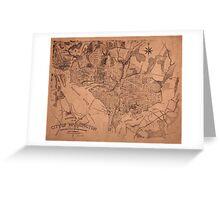 Map Of Washington 1802 Greeting Card