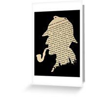 Classic Sherlock Holmes Greeting Card