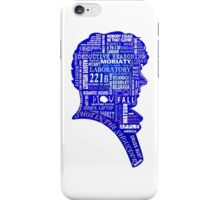 sherlock blue typography iPhone Case/Skin