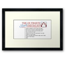 duels are dumb and immature  Framed Print